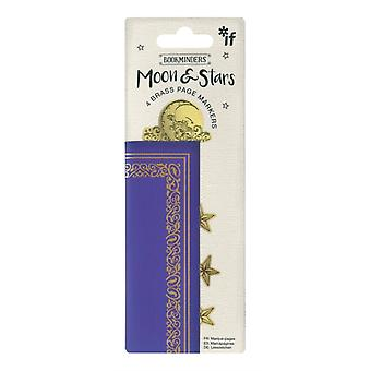 Book Minders Page Markers Moon  Stars