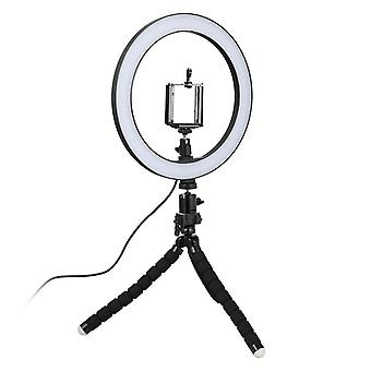Selfie Lamp/Ring Light (26 cm) with mallable stand