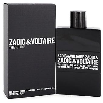 This Is Him Shower Gel By Zadig & Voltaire 6.7 oz Shower Gel