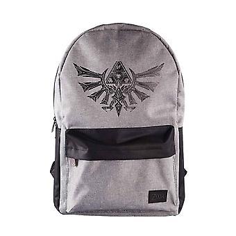 Zelda Backpack Hyrule Crest Logo nouvelle Nintendo Grey officielle