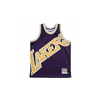 Mitchell & Ness Nba Big Face Jersey Los Angeles Lakers MSTKBW19068LALPURP basket-ball été hommes t-shirt