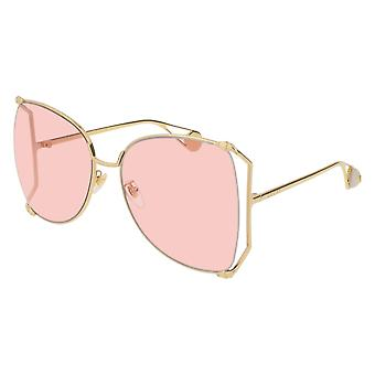 Gucci GG0252S 004 Gold/Pink Sunglasses