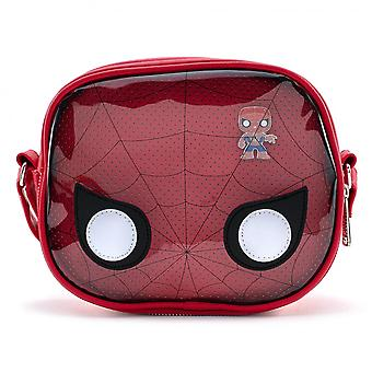 Marvel Pop! Spider-Man Pin Collector Pop Crossbody Bag by Loungefly
