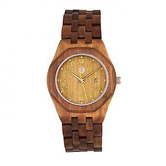 Earth Wood Baobab Bracelet Watch w/Date - Olive