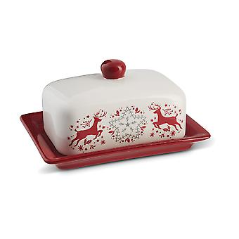 Cooksmart Winter Wonderland Butter Dish