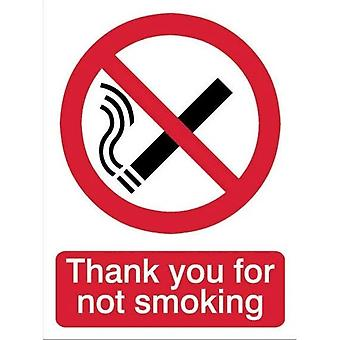 House Nameplate Co Thank You For Not Smoking Sign