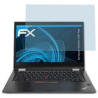 atFoliX 2x Screen Protection film kompatibilný s Lenovo ThinkPad X380 jóga Matt & shockproof