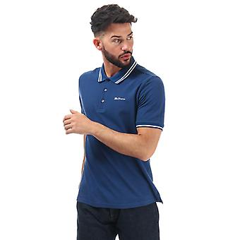 Men's Ben Sherman Twin Tipped Polo Shirt in blau