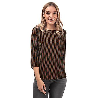 Women's Only Nova Lux Mesa 3 Quarter Sleeve Top in Black