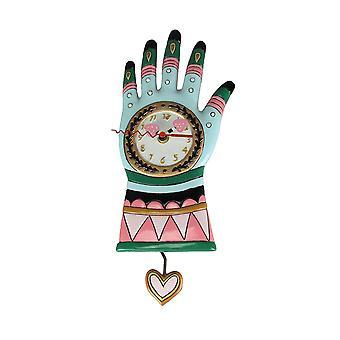 Allen Designs Green Thumb Garden Glove Pendulum Wall Clock