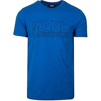 T-shirt met logo van Lagerfeld Royal Blue