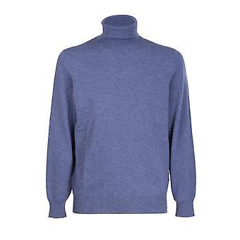 Brunello Cucinelli M2200103ca709 Men's Blue Cashmere Sweater