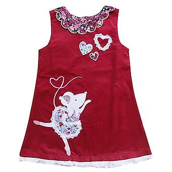 Infant Girls Sleeveless Embroidery Floral Dress
