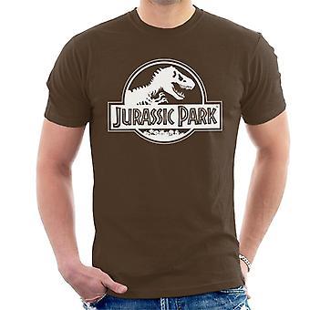 Jurassic Park klassieke zwarte & wit logo mannen ' s T-shirt