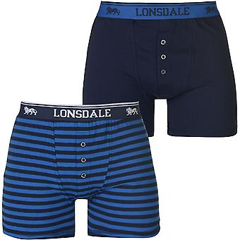 Lonsdale 2 Pack Boxers Hommes