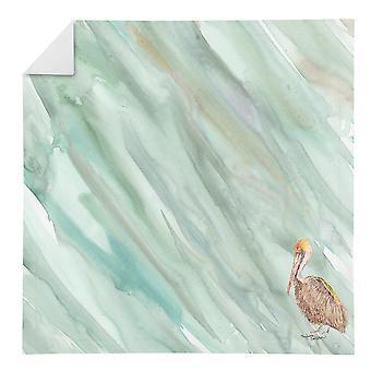 Carolines Treasures SC2063NAP Brown Pelican sur Sage Green Serviette