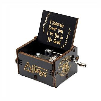 Harry Potter Hedwig Thema Hand gekurbelt Holz Musical Box