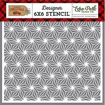 Echo Park Poinsettia Kuvio 6x6 Tuuman Kaavain