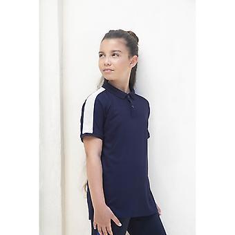 Finden & Hales Childrens/Kids Contrast Panel Pique Polo Shirt