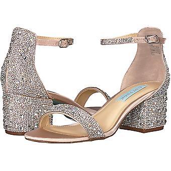 Betsey Johnson Women's Shoes Sb-mari Fabric Open Toe Formal Ankle Strap Sandals
