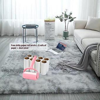 À la mode Anti-slip Tie Dyed Peluche Soft Carpets For Living Room, Chambre à coucher
