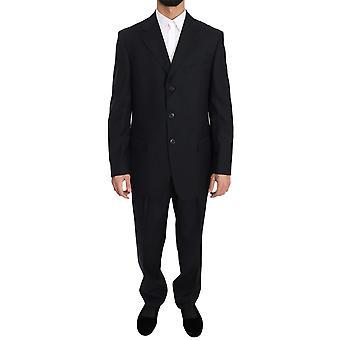 Solid Blue Two Piece 3 Button Suit