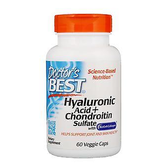 Doctor's Best, Acide hyaluronique + Sulfate de Chondroïtine, 60 Bonnets végétariens