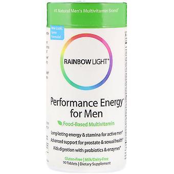 Rainbow Light, Performance Energy for Men, Food-Based Multivitamin, 90 Tablets