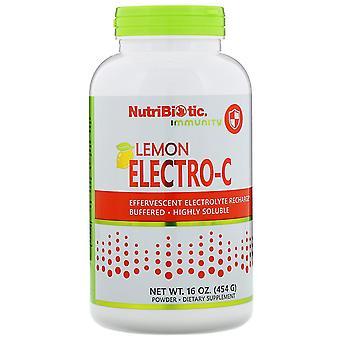 NutriBiotic, Immuniteit, Citroen Electro-C Poeder, 16 oz (454 g)
