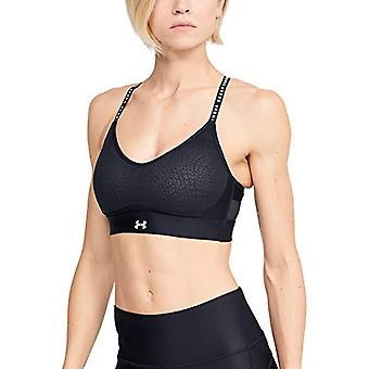 Under Armour Limitless Low Sports Bra, Black (001)/White, Small