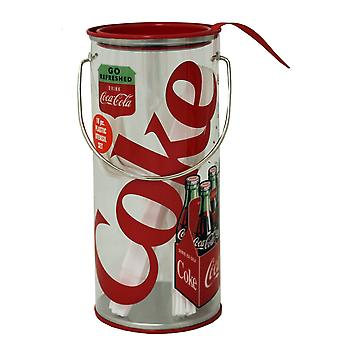 Storage Tin - Coke - Clear Plastic Metal Tin w/Utensils New tin776007