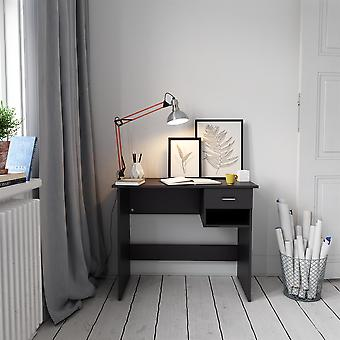 Black Desk with Drawer & Shelf for Home Office - Piranha Furniture Pilot
