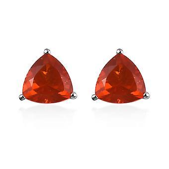 Rhapsody Platinum AAAA Boucles d'oreilles Opale de feu pour femmes Stud, 2.5 Ct