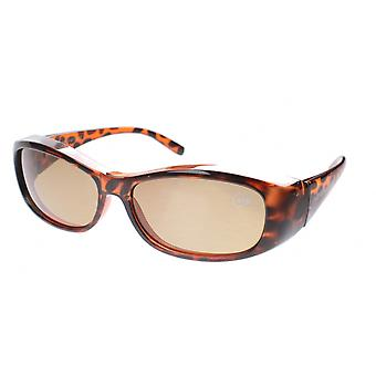 Sunglasses Unisex Transfer Turtle Brown with Brown Lens