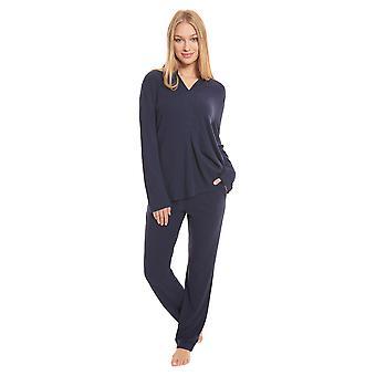 Féraud High Class 3201137-10063 Women's Navy Cotton Pyjama Set