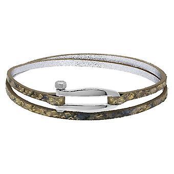 Rochet B25601412DT bracelet - BOHEME Steel - Textile Python Blue Double Tour Women's Link