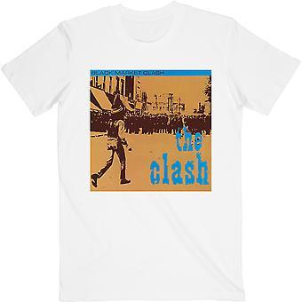 White The Clash Black Market Official Tee T-Shirt Unisex