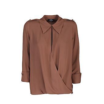 Elisabetta Franchi Ca29606e2038 Women's Brown Viscose Shirt