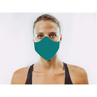 Non-Medical Face Mask | Solid Teal - L ( large size, for a larger face, fits most men 180 cm and up)