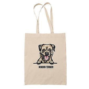 Border terrier tote bag dog shopping bag Tote bag