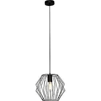 BRILLIANT Lamp Noris Hanglamp 28cm zwart | 1x A60, E27, 60W, g.v. normale lampen n. ent. | Geschikt voor LED-lampen