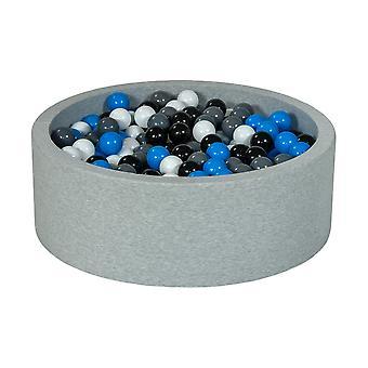 Fossa a sfera 90 cm con 450 palline nero, bianco, blu e grigio