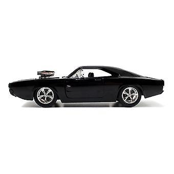 Fast & Furious 7 Dom's T1970 Dodge Charger R/T Die-cast Speelgoedspier auto zwart