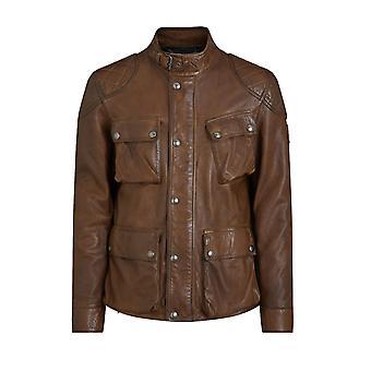 Belstaff Fieldbrook 2.0 Leather Jacket Walnut