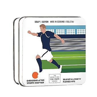Football Themed 100g Tinned Soap Bar door Scottish Fine Soaps