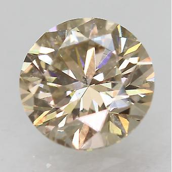 Cert 0,55 Karat Top hellbraun VVS1 Runde brillante natürliche Diamant 5,23 mm 3EX