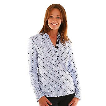 JUST WHITE Just White Blue Blouse 43386