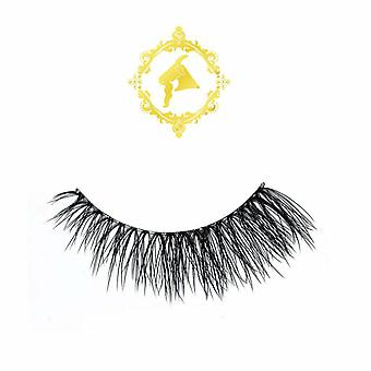 Pinky Goat Reusable Faux Mink Lashes - Rose - Wispy Effect Lightweight Falsies