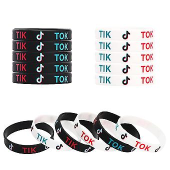 Tik Tok Theme, Silicone Rubber Wristbands For Party