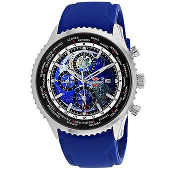Seapro Men's Meridian World Timer GMT Blue Dial Watch - SP7521